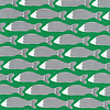 Cloud 9 Cotton Waterland - green fish