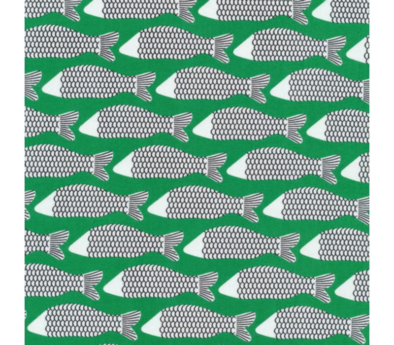 Cotton Waterland - green fish