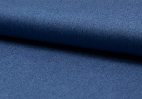 De Stoffenkamer viscose chambray midblue