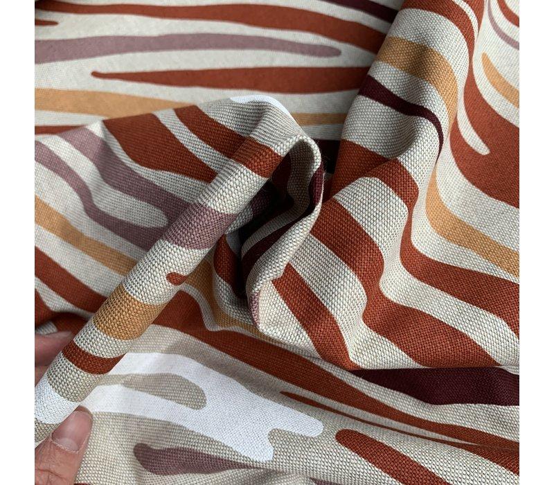 Canvas Colored Zebra skin