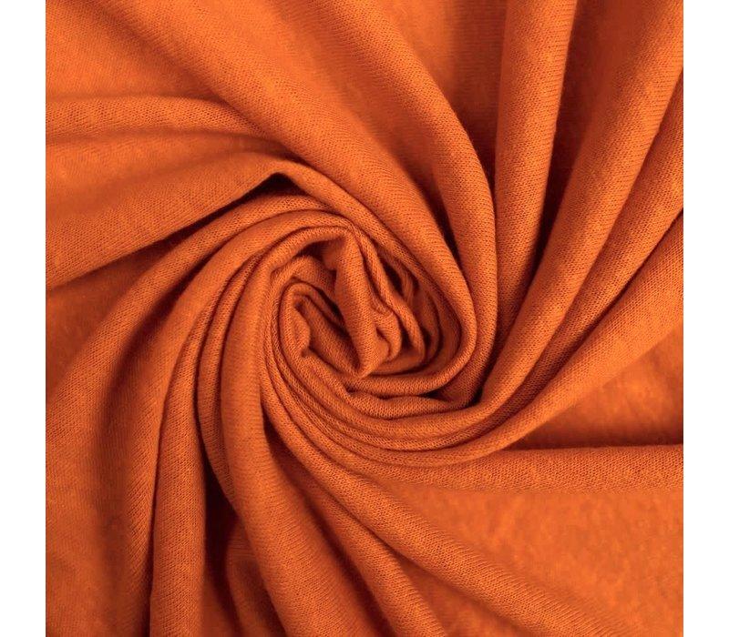 Linen Jersey Warm Chestnut