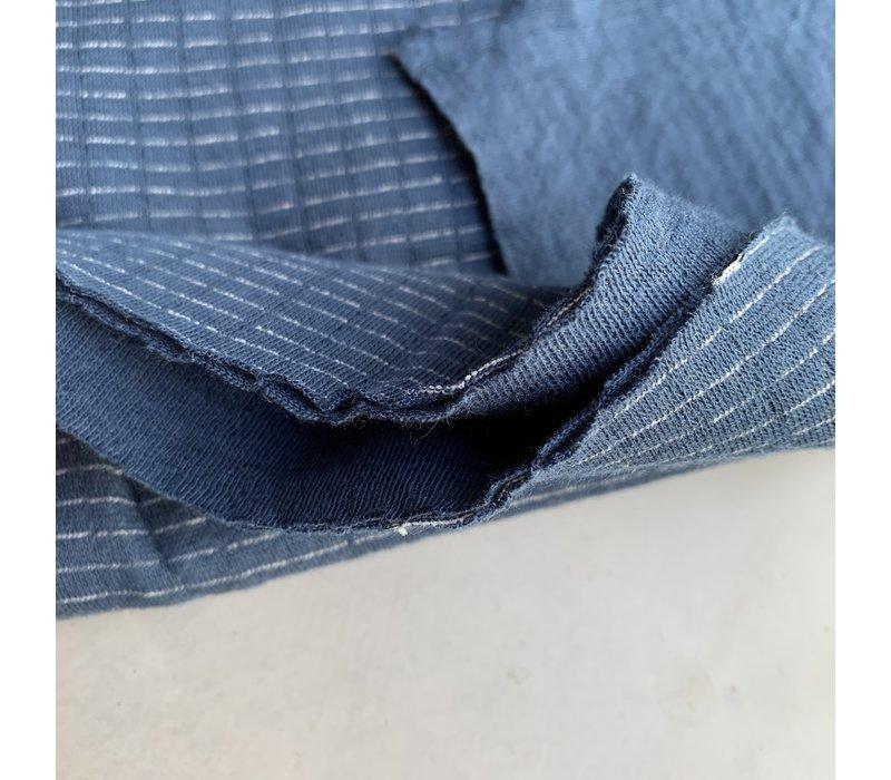 Double Gauze Jersey Denim Blue