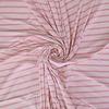 Birch Interlock Tricot - Baby Pink Stripes