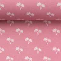 Cotton palmtrees pink