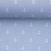 Cotton mini Anchors Light blue