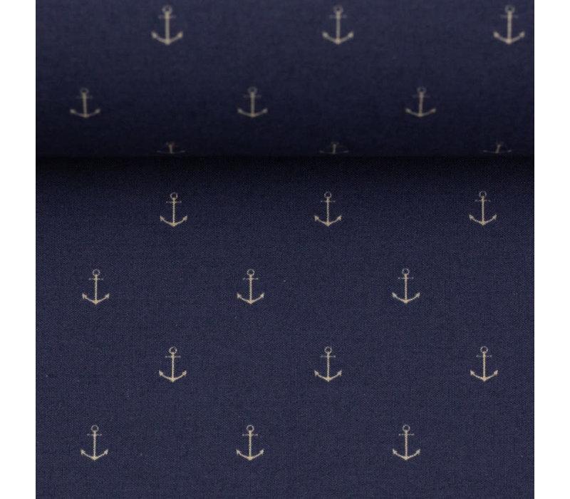 Cotton mini Anchors Navy Blue