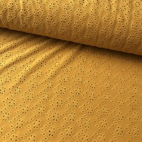 Tricot Broderie Ocre