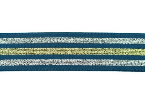 De Stoffenkamer Taille Elastiek 40mm Blue Stripes