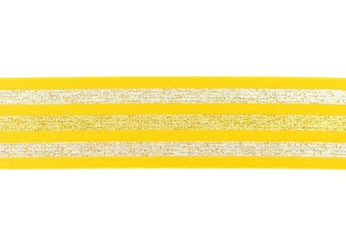 De Stoffenkamer Taille Elastiek 40mm Yellow  Stripes