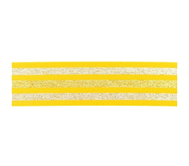 Taille Elastiek 40mm Yellow  Stripes