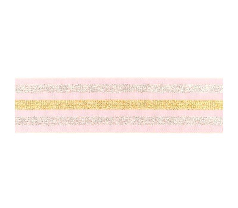 Taille Elastiek 40mm Pink  Stripes