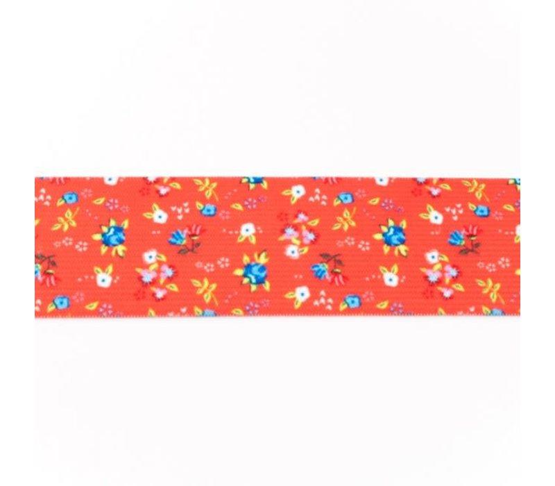 Taille Elastiek 40mm Red Flowers