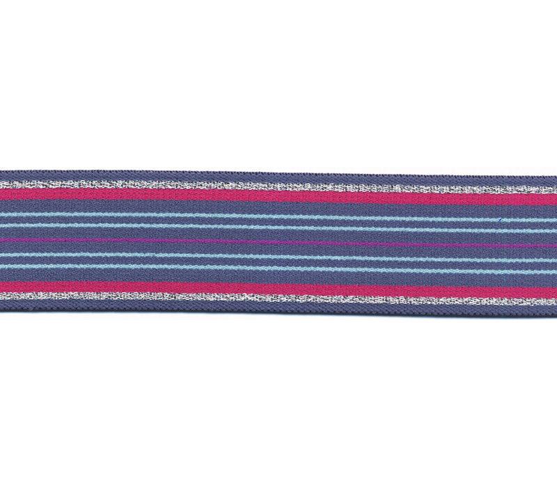 Taille Elastiek 35mm metallic stripes