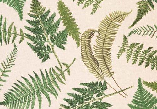 Canvas beige botanical green