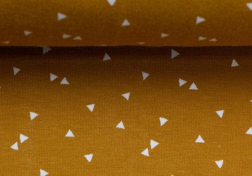 About Blue Fabrics Tricot - Mini Triangles Core