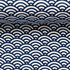About Blue Fabrics Tricot - Bows Dark Blue