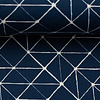 About Blue Fabrics Tricot - Geo Lines Dark Blue