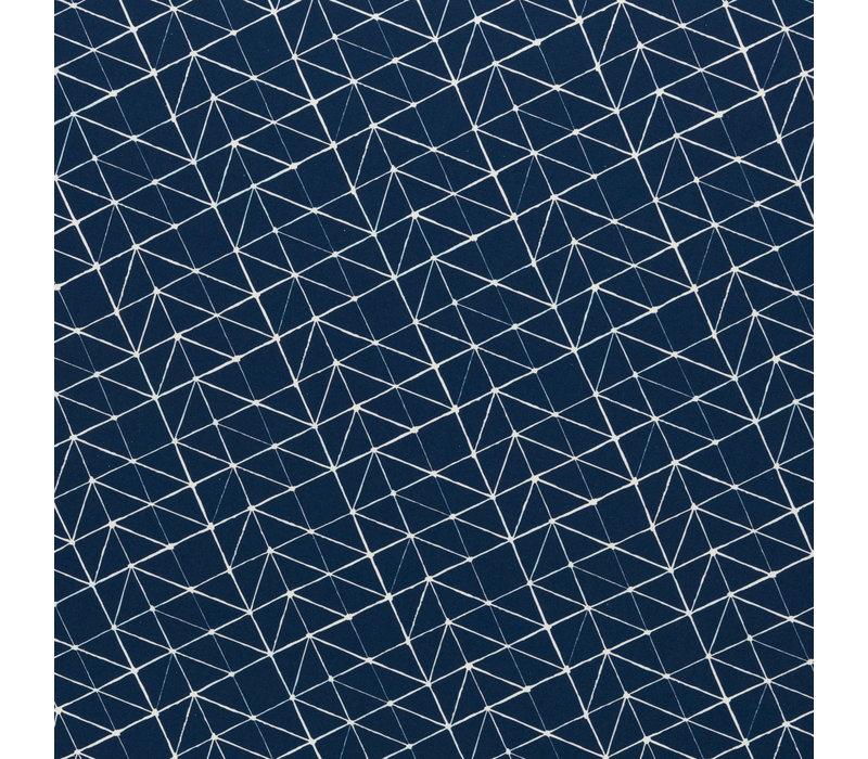 Tricot - Geo Lines Dark Blue