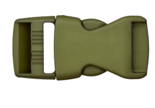 klikgesp mosgroen 30mm