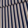Blouse Viscose stripes navy