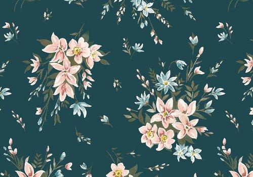 liberty Cotton Liberty - Winterbourne Bouquet