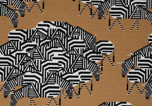 Birch Charley Harper Western Barkcloth - zebra