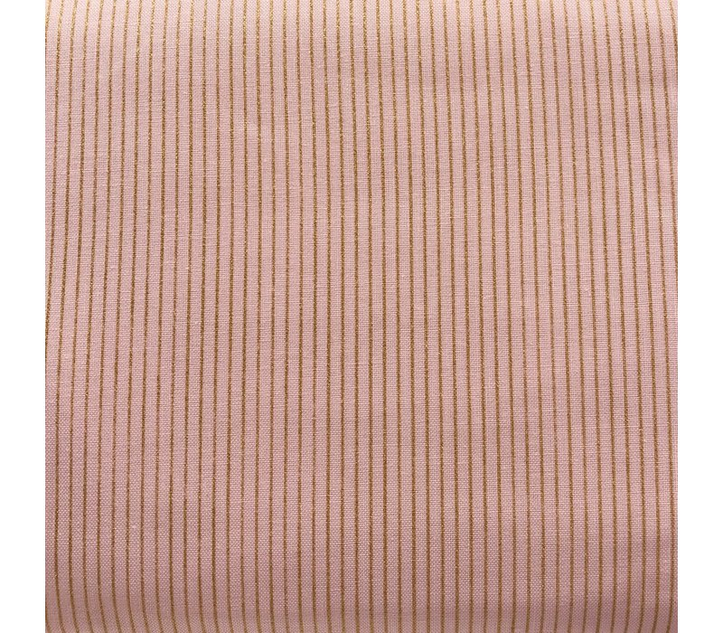 Cotton Rose Golden Stripes