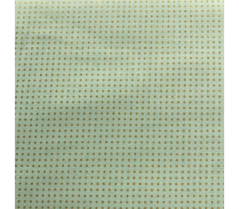 Cotton Mint Golden Dots