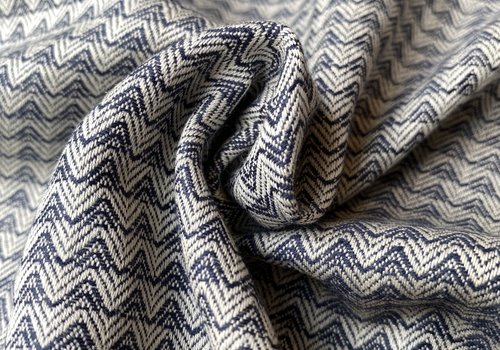 Cotton + Steel Ruby Star WOVEN chevron dark blue