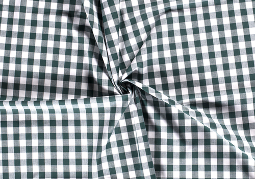 Cotton checks vichy 1cm Dark Green