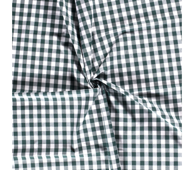 Cotton checks vichy 1cm Dark Green