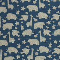 French Terry - Denim Animals