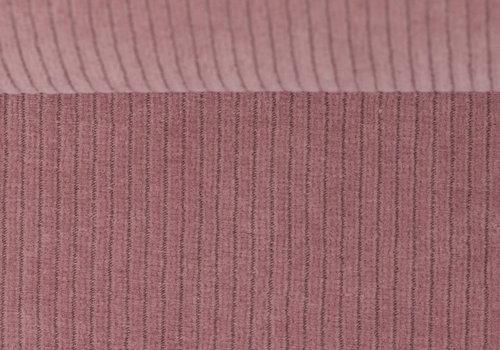 De Stoffenkamer Stretchy Ribfluweel Met Brede Ribbel Old Pink