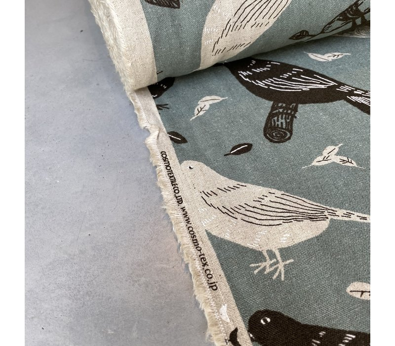 Canvas Bluegrey Birds