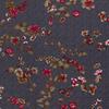 De Stoffenkamer Viscose Winter Tricot - navyblue dots and flowers