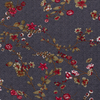 Viscose Winter Tricot - navyblue dots and flowers