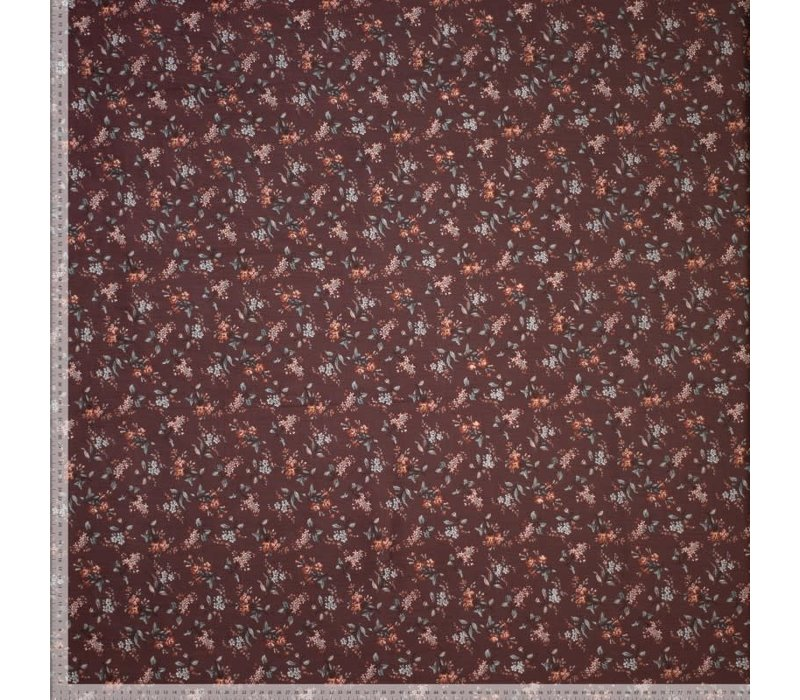 Babyrib velvet mini flowers Rust