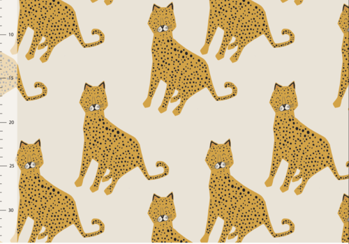 Elvelyckan Bio tricot - Leopard Creme