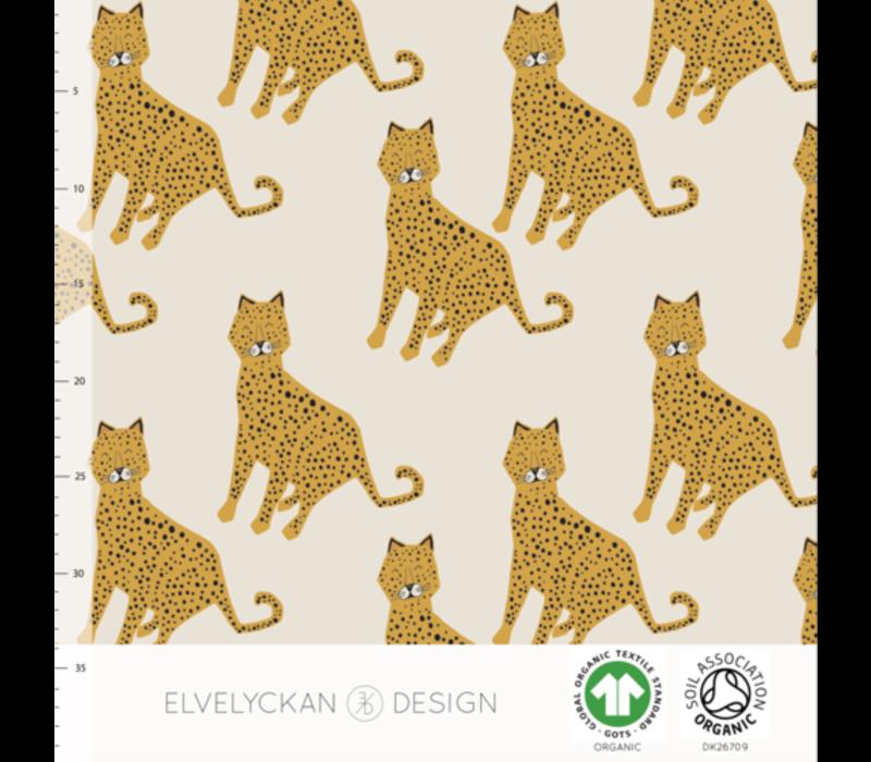 Bio tricot - Leopard Creme