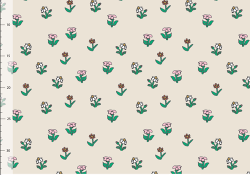 Elvelyckan Bio tricot - Pipi Langkous Flowers