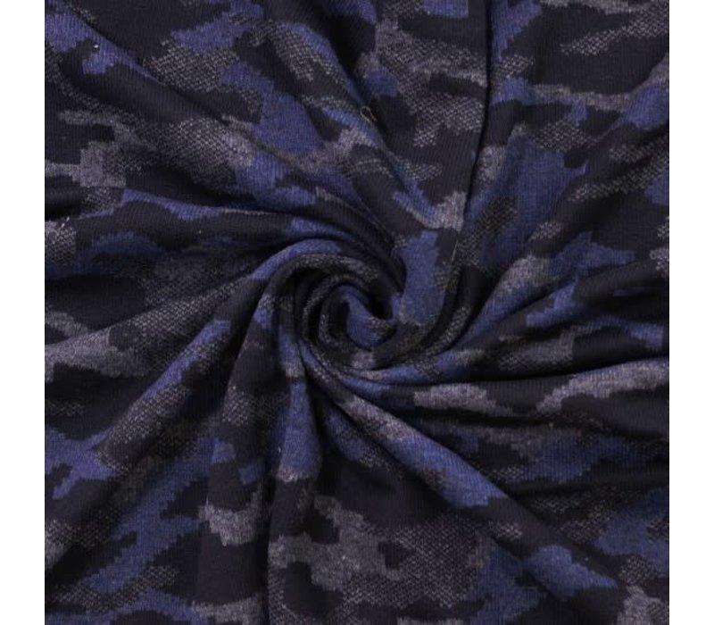 Wol Mix Blue Camouflage