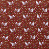Cosmo Cotton Foxes Rusty Brown