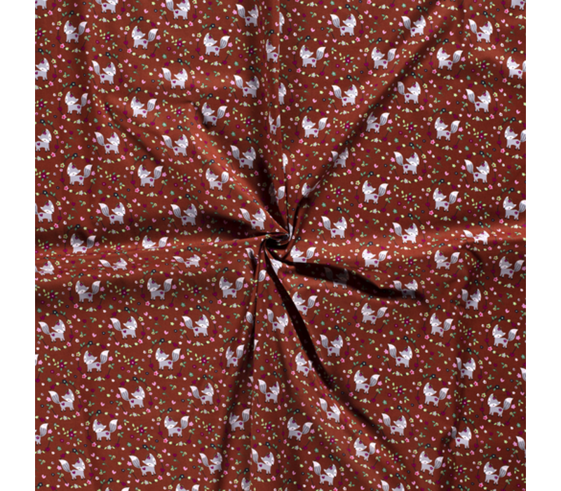Cotton Foxes Rusty Brown