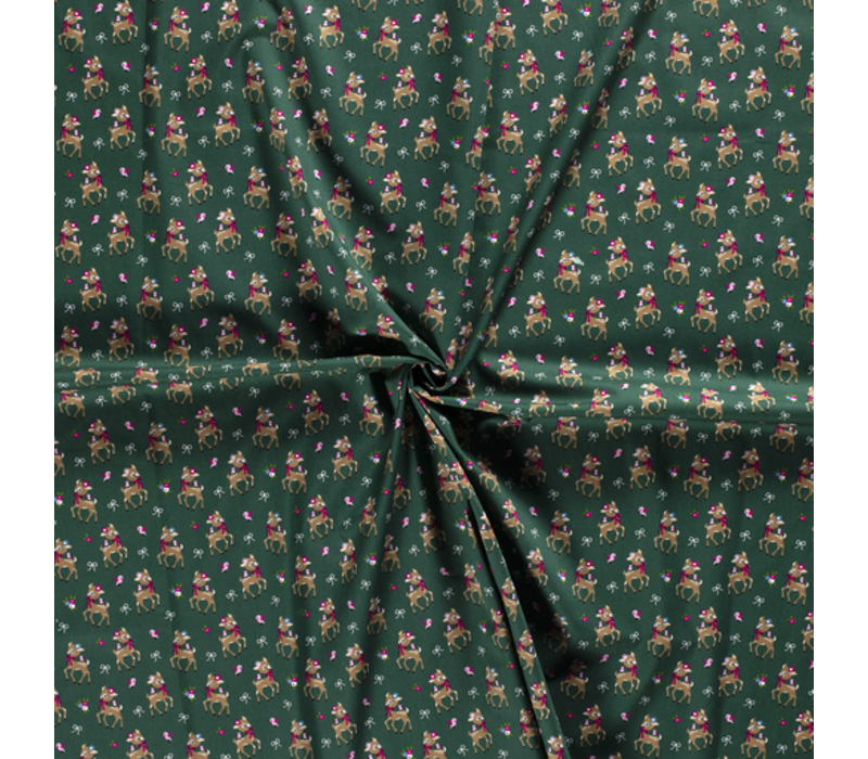 Cotton Oh Deer Green