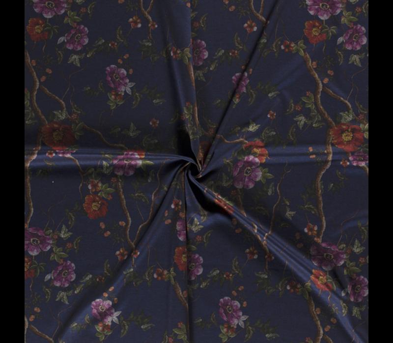 Extra dik tricot - punta Blue Flowers