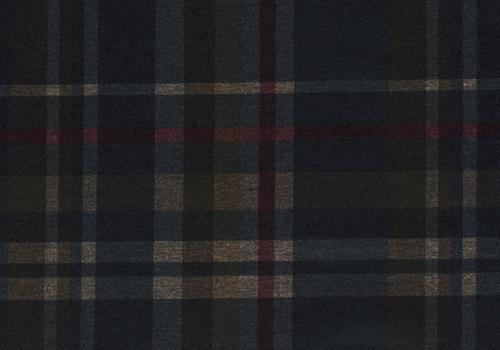 De Stoffenkamer Extra dik tricot - punta Checks Burgundy