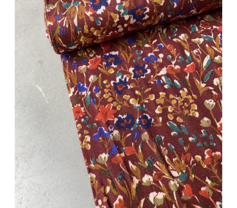 Blouse Viscose Rusty Whine Flowers