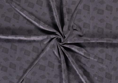 De Stoffenkamer Suede Squares Greyblue