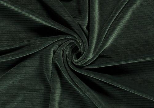 De Stoffenkamer Stretch rib Met Brede Ribbel Dark Green