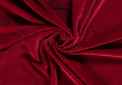 De Stoffenkamer Stretch rib Met Brede Ribbel Dark Red